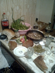 Вкусный грибной стол