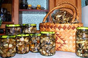 Варка грибов отдельно от маринада